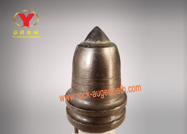 Wear Resistance Carbide Rock Teeth , Antifriction Alloy Auger Cutting Pick